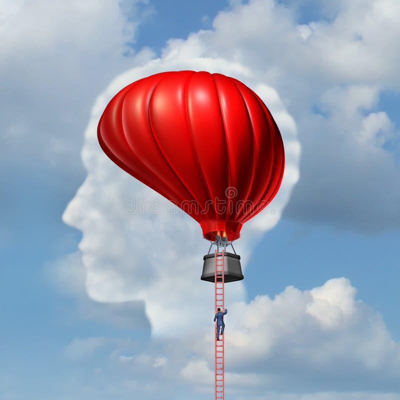 Untersuchung des Gehirns stock abbildung