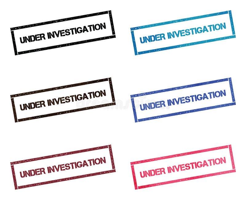 In Untersuchung rechteckige Briefmarkensammlung vektor abbildung