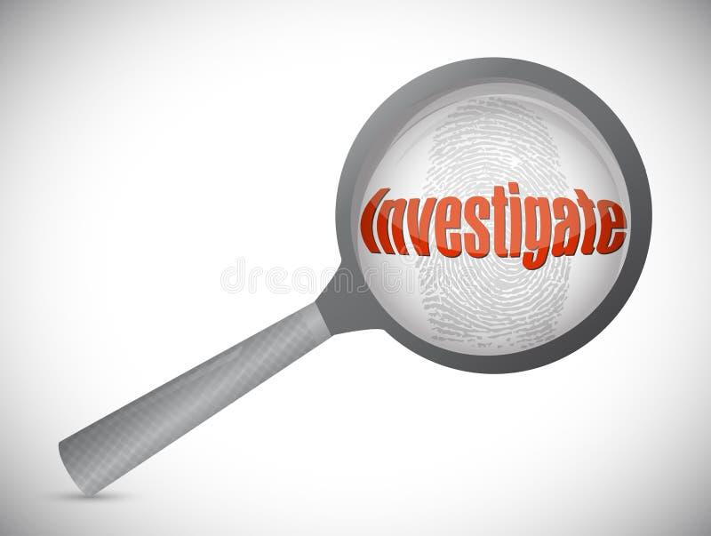 Untersuchung unter Suche, Illustration stock abbildung