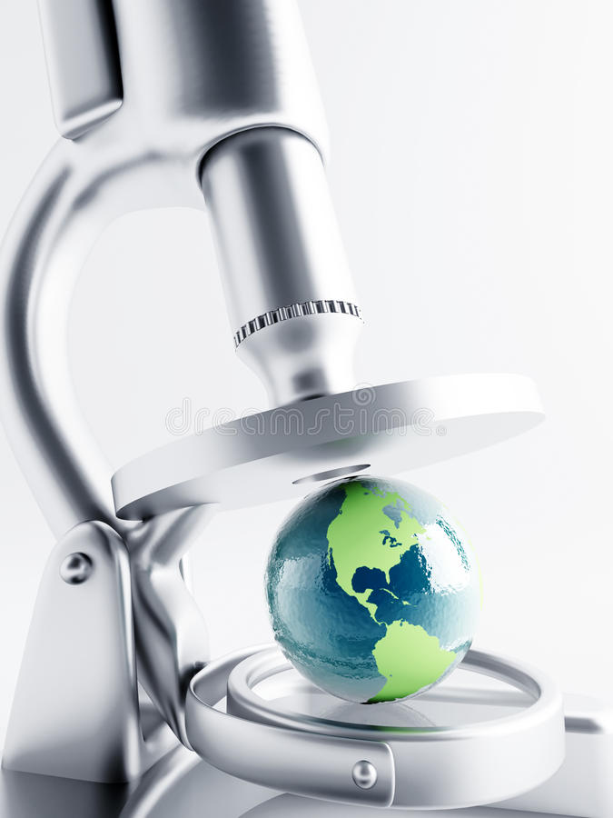 Untersuchung von Erde lizenzfreie abbildung