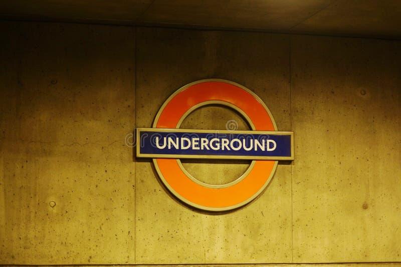Untertage-London lizenzfreie stockfotos