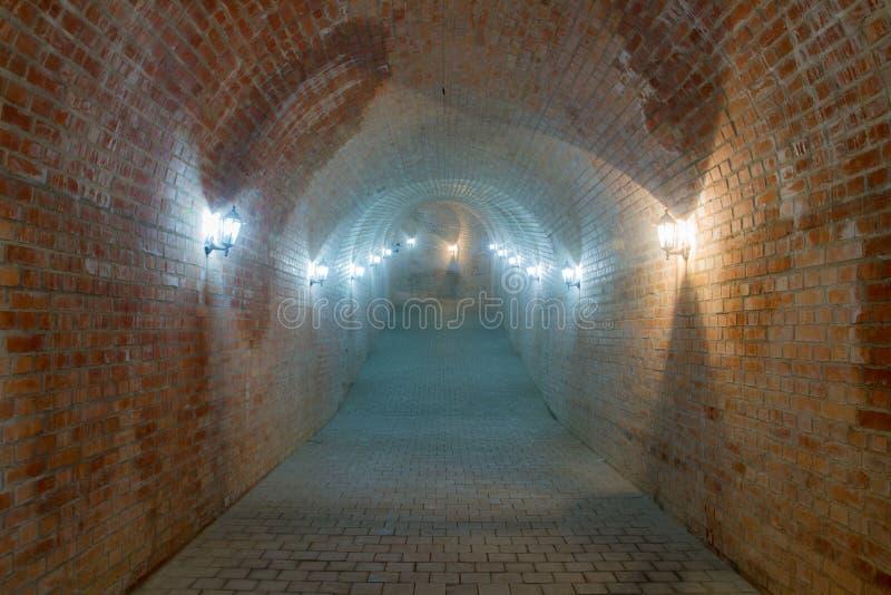 Untertagedurchgang Alba Carolina-Festung stockbild