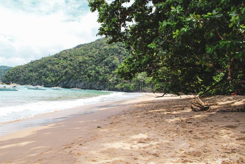 Untertagefluß in Puerto Princesa stockbild