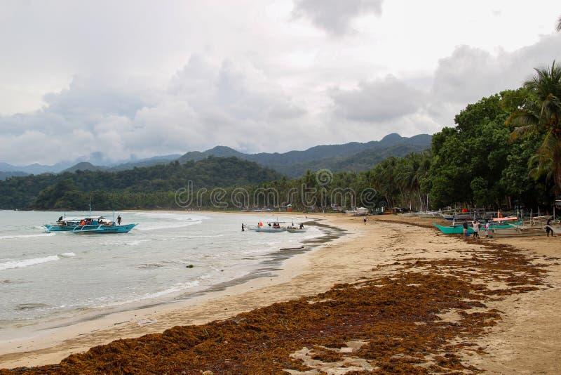 Untertagefluß in Puerto Princesa stockfotos