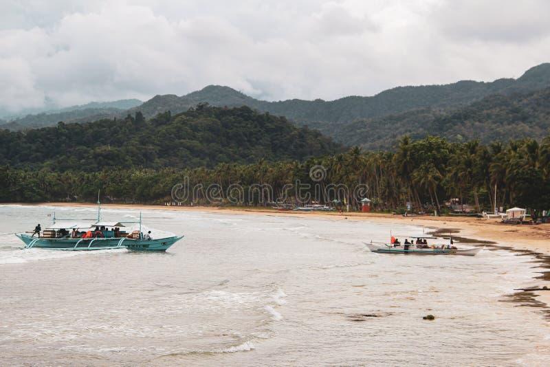 Untertagefluß in Puerto Princesa stockbilder