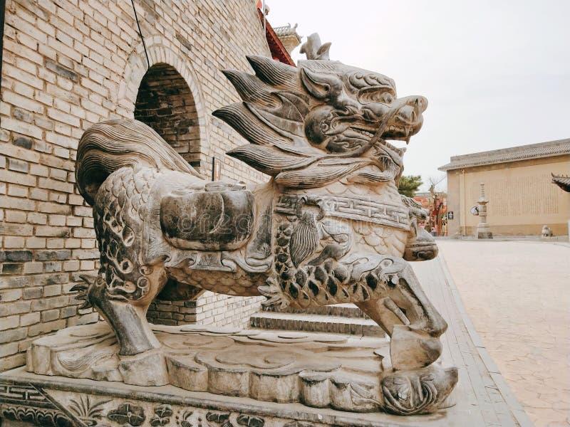 Untertagegruben in Shaanxi, China stockfoto