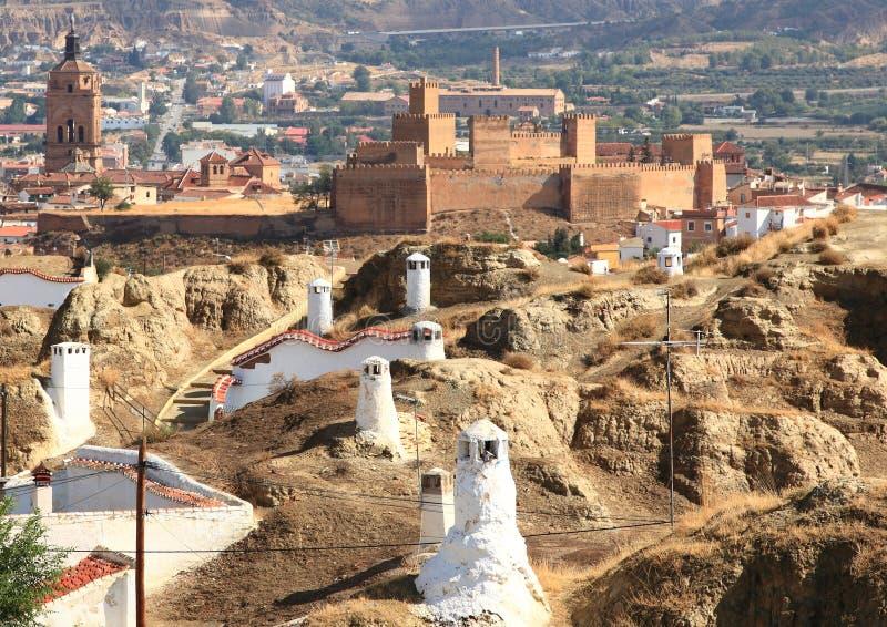 Untertagelebensdauer von Guadix, Spanien lizenzfreie stockfotos