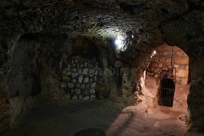 Untertagestadt Derinkuyu in Cappadocia lizenzfreies stockfoto