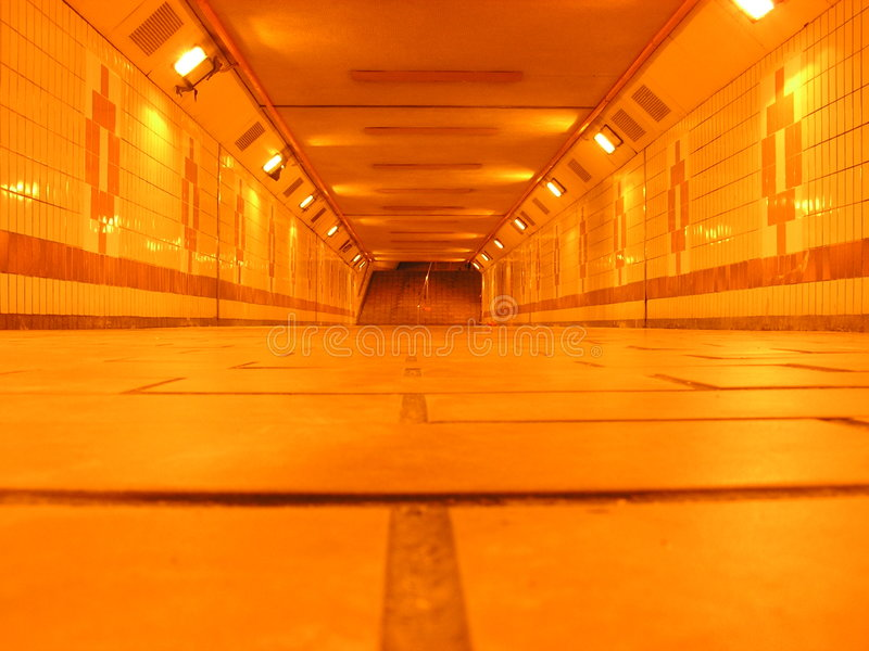 Untertagetunnel stockfoto