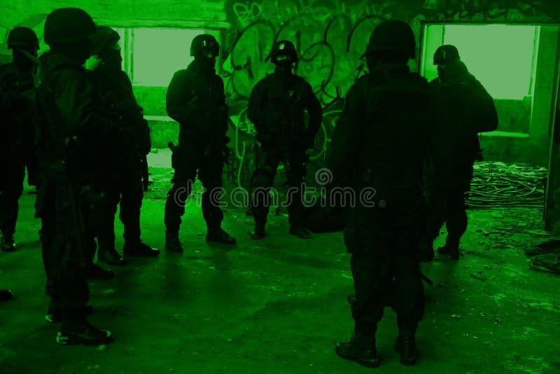 Unterteilunganti-terroristpolizei stockbild
