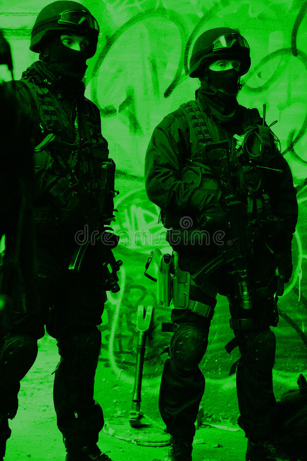 Unterteilunganti-terroristpolizei lizenzfreie stockfotografie