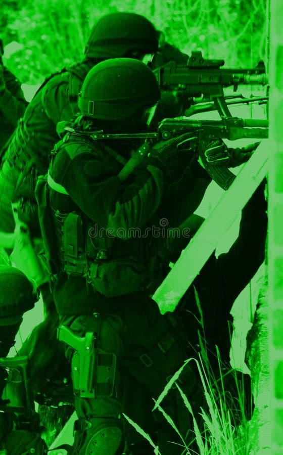 Unterteilunganti-terroristpolizei stockbilder