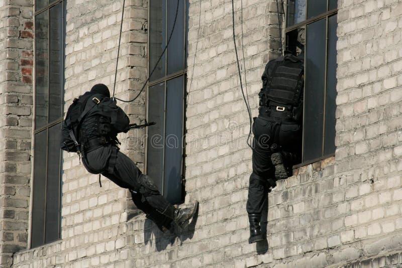 Unterteilungsanti-terroristpolizei stockbild