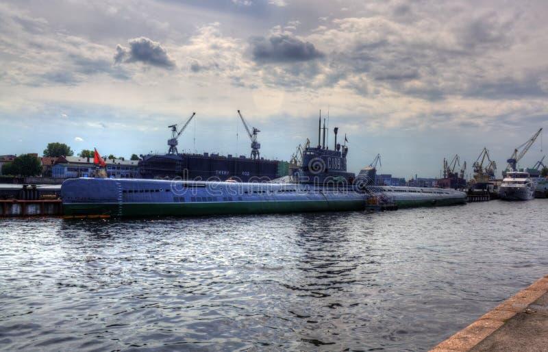 Unterwasser-C-189 in St Petersburg, Russland stockbilder