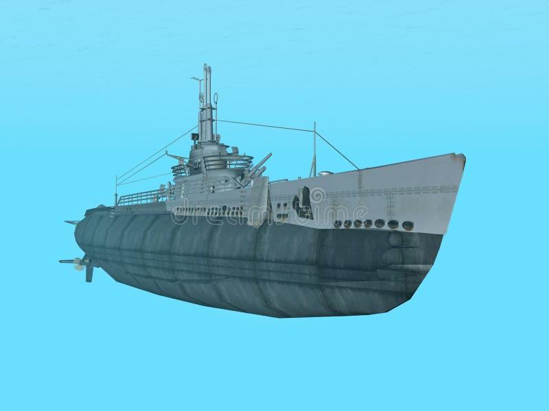 Unterwasser-USS-Auslöser vektor abbildung