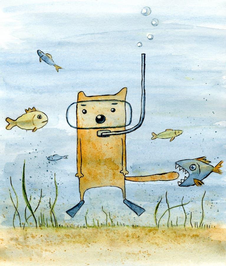 Unterwasserabenteuer lizenzfreie abbildung