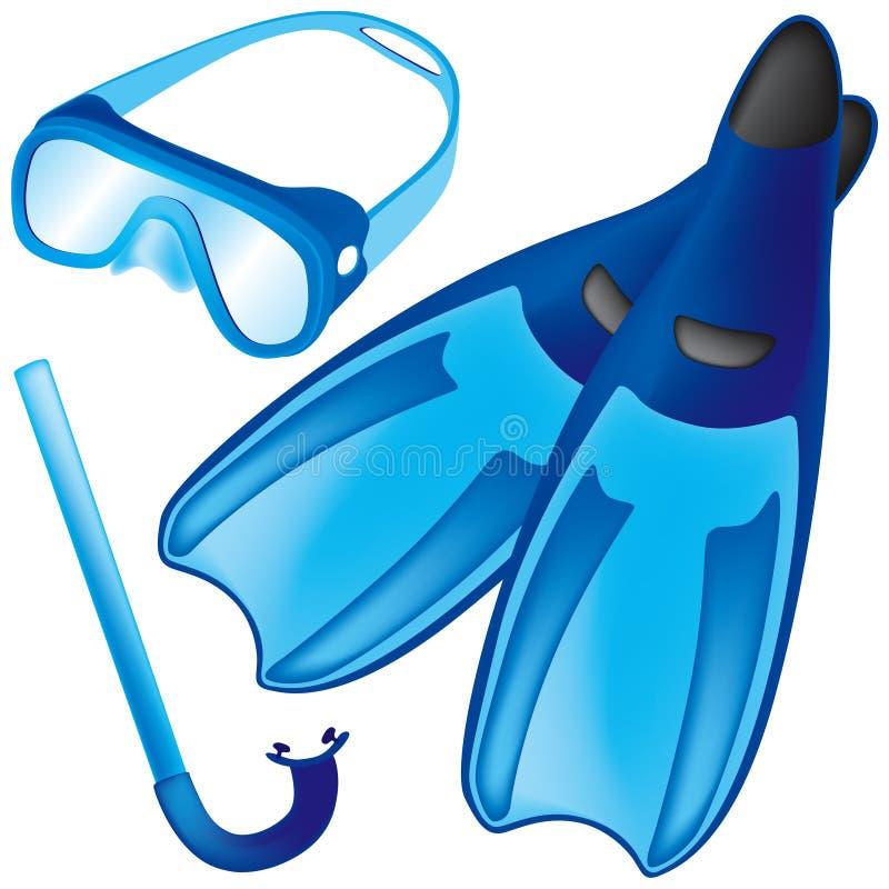 Unterwasseratemgerät vektor abbildung