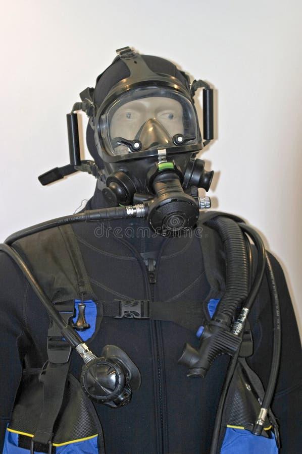 Unterwasseratemgerätsturzflugklage stockfotografie