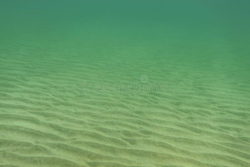 Unterwasserfoto - fast flacher Meeresgrund, nur kleiner Sand lizenzfreies stockfoto