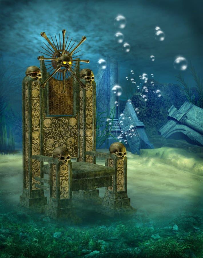 Unterwasserlandschaft 7 stock abbildung