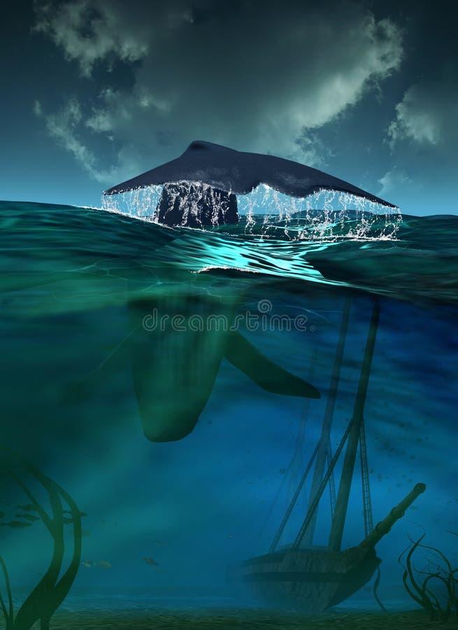 Unterwasserlebensdauer lizenzfreie abbildung