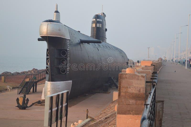 Unterwassermuseum INS Kursura, Vizag, Indien lizenzfreie stockfotografie