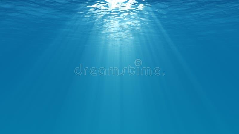Unterwasserszene lizenzfreie abbildung