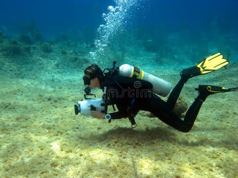 UnterwasserVideographer stockfotografie