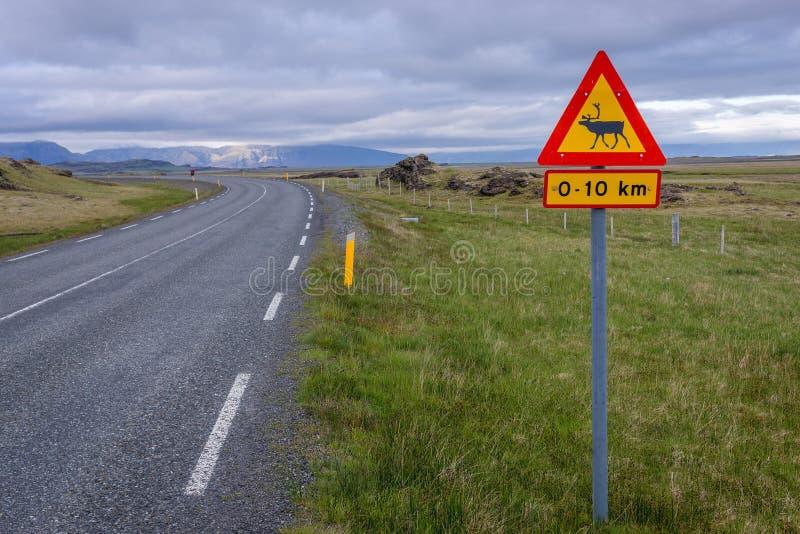 Unterzeichnen Sie herein Island lizenzfreies stockfoto