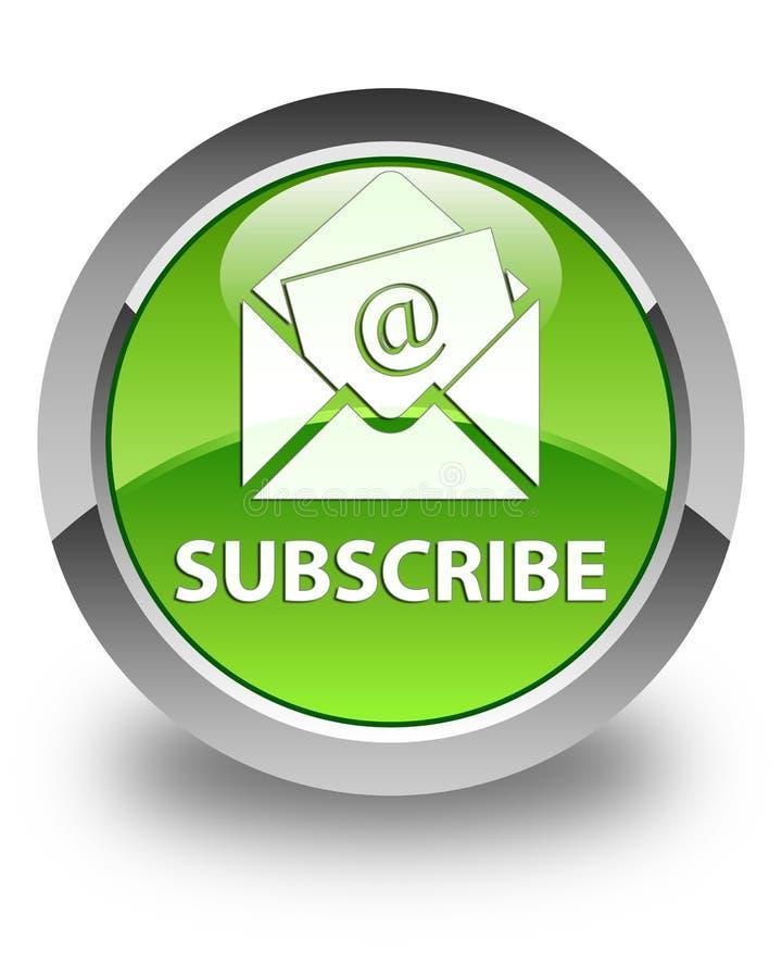 Unterzeichnen Sie (Newsletter-E-Mail-Ikone) glatten grünen runden Knopf lizenzfreie abbildung