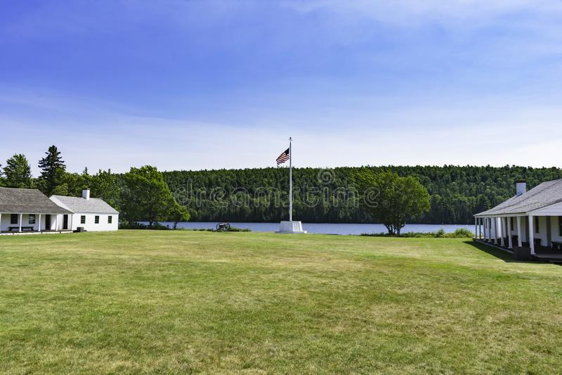 An Untested Fort. Fort Wilkins on the shores of Lake Fanny Hooe royalty free stock photography