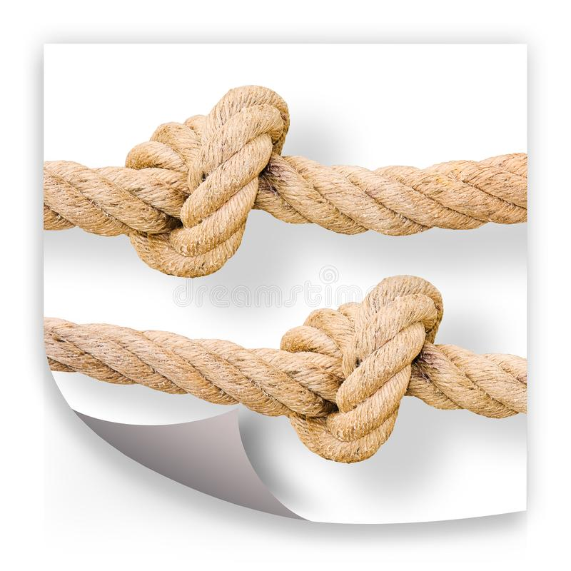 Untie the knots - problem solving concept image royalty free stock images