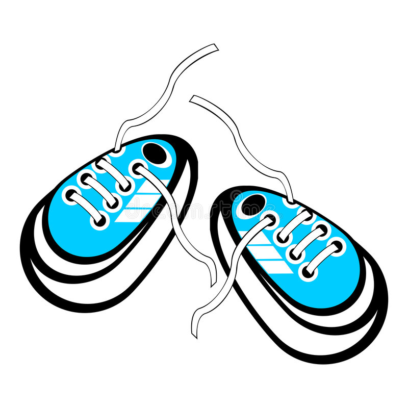 Untied sneakers vector illustration