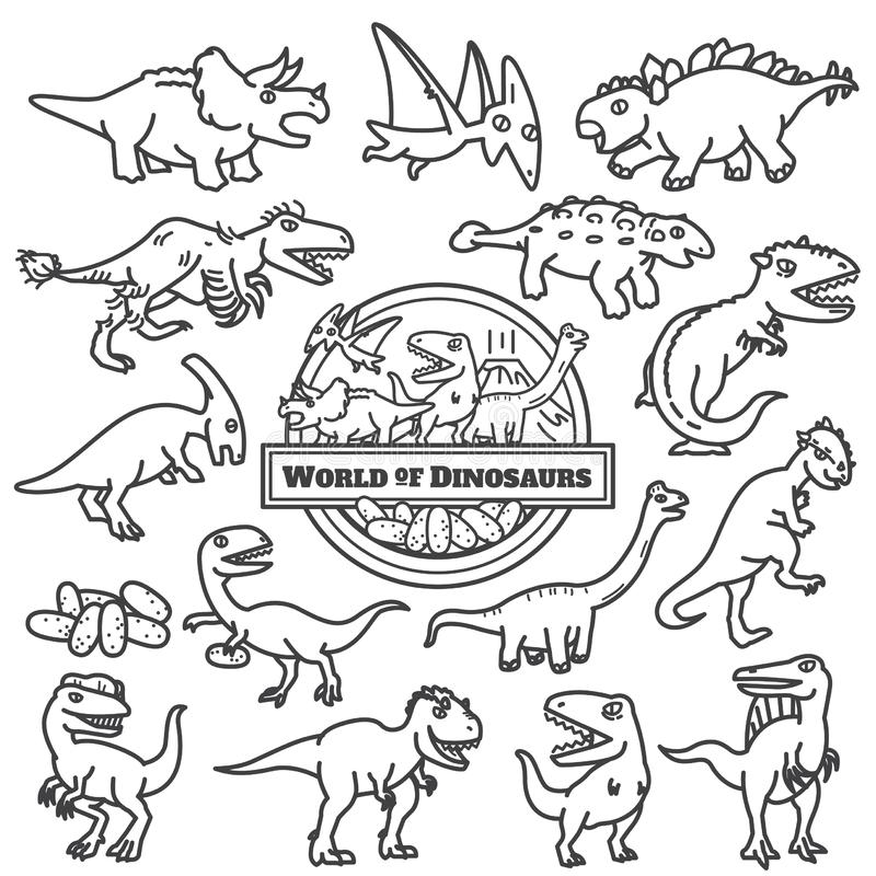 Dinosaurs icon isolated. cartoon characters design. vector illustration