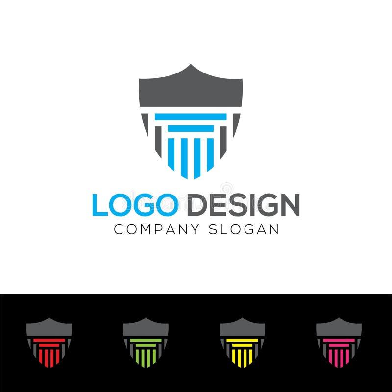 Shield Logo Template, Protector Logo Design, Abstract logo. Vector Illustration Graphic. stock illustration