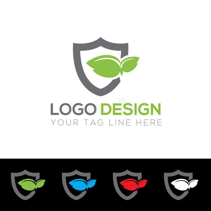 Shield Logo Template, Protector Logo Design, Abstract logo Vector Illustration Graphic. royalty free illustration