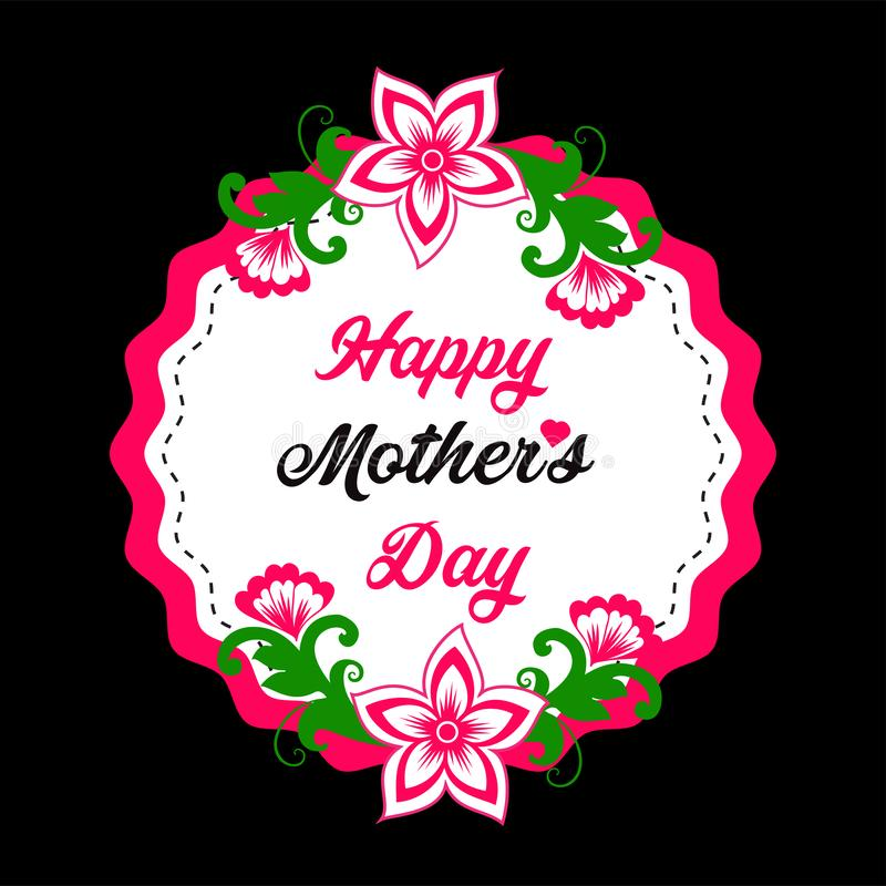 Happy Mother Day Design stock illustration