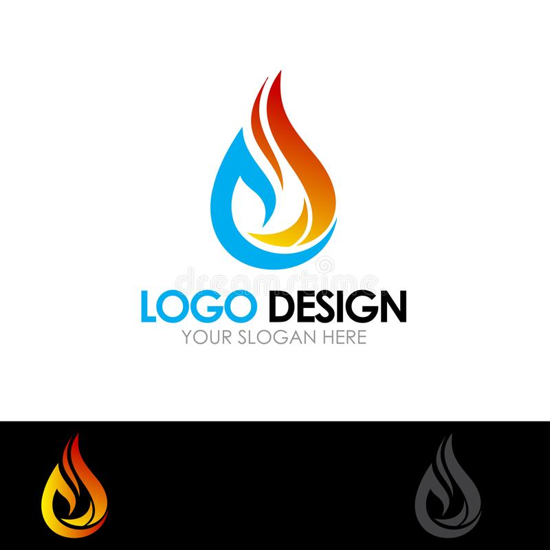 Abstract Fire Logo Design. Vector Illustration for company Or Business stock illustration