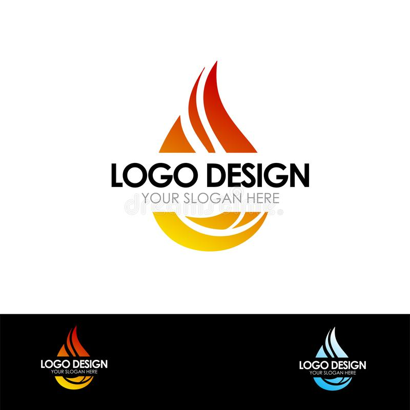 Abstract Fire Logo Vector Illustration. For Company Business vector illustration