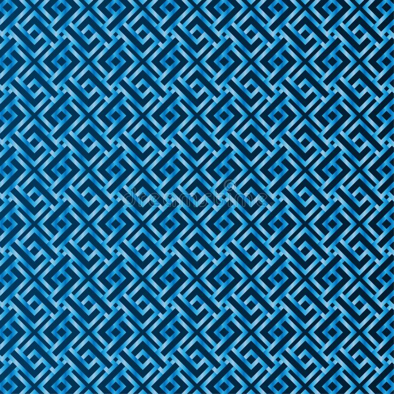 Blue pattern seamless the background vector illustration
