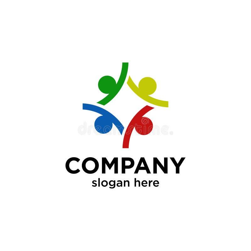 Four people logo stock illustration