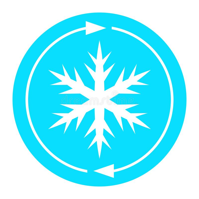 Air conditioning snowflake icon royalty free illustration