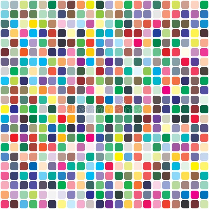 Vector color palette. 484 different colors royalty free illustration