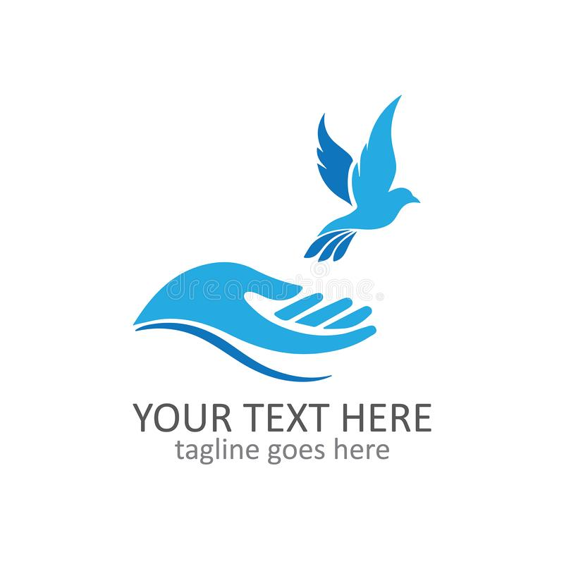 Bird freedom logo template vector royalty free stock images