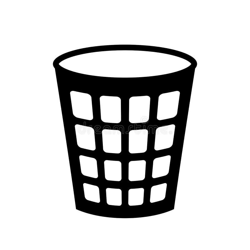 Empty recycle bin icon vector illustration