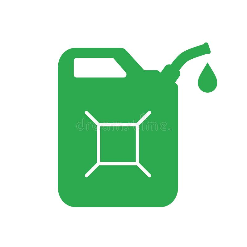 Green jerrycan vector icon royalty free illustration
