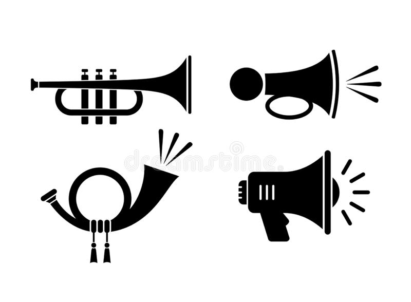 Horn sound vector icon royalty free illustration