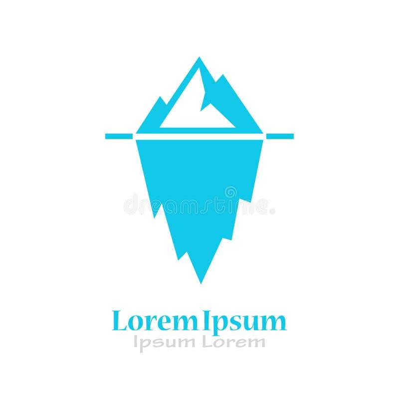 Iceberg logo. Iceberg vector logo illustration isolated on white background vector illustration