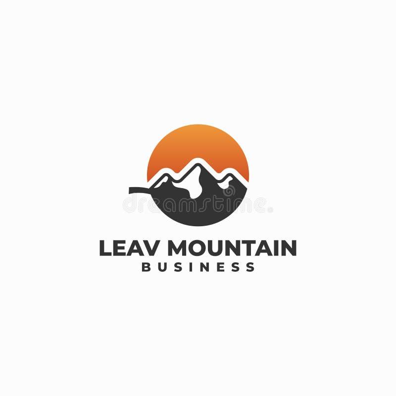 Leaf Illustration Design Idea Vector Template royalty free illustration