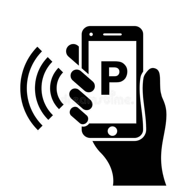Mobile parking vector pictogram vector illustration